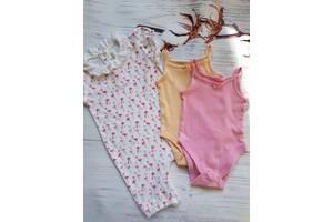 Набір одягу на дівчинку 12-24 місяці, маєчки-боді, пісочник, яскравий одяг на дівчинку