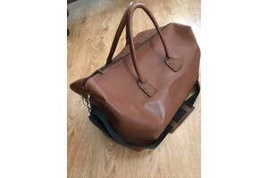 Новая дорожная сумка из натуральной кожи