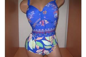 Дуже гарний відрядних купальник FUBA.VI синій з малюнком розмір 56/5XL