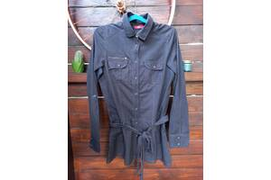 Оригинальная удлиненная рубашка с поясом Esprit в отличном состоянии \ Размер M \