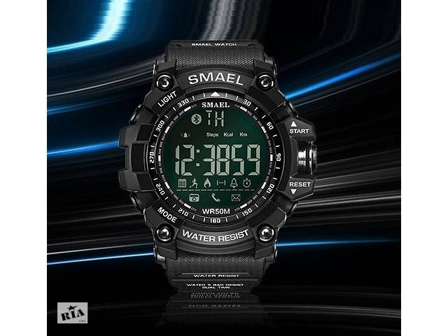 купить бу Оригинальные мужские спортивные часы SMAEL 1617 Bluetooth smart watch, наручные спорт часы умные водостойкие в Днепре (Днепропетровск)