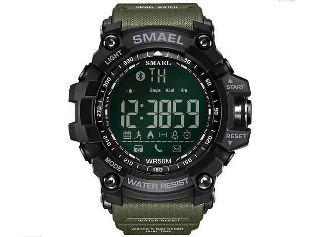 бу Оригинальные мужские спортивные часы SMAEL 1617 Bluetooth smart watch, наручные спорт часы умные водостойкие Хаки в Днепре (Днепропетровск)