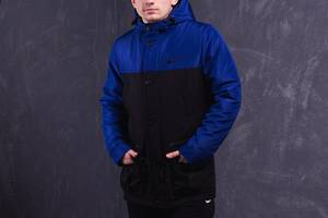 Парка Nike Зимняя мужская куртка синяя черная найк