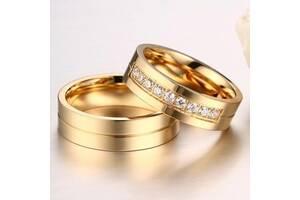 """Парные кольца с позолотой """"Желание"""" (жен.15.9 16.5 17.3 18.2 19.0 19.2 муж.17.3 18.2 19 20 20.7 21.5)"""