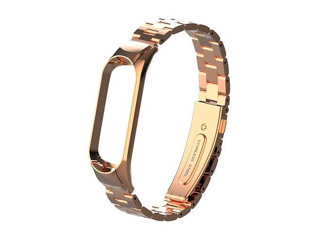 купить бу Pемешок для фитнес-браслета Mi Band 3 и 4 Bead design, Rose gold в Запорожье