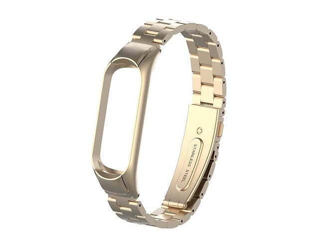Pемешок для фитнес-браслета Mi Band 3 и 4 Bead design, Beige gold- объявление о продаже  в Запорожье