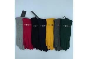 Перчатки оптом  женские трикотаж Birreti