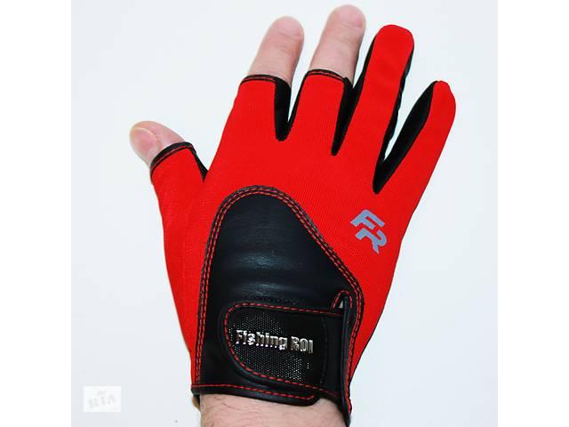 купить бу Перчатки спиннингиста «FISHING ROI» WK-11 Красные в Вінниці