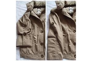 Плащ куртка курточка тренч на лето теплую осень -весна с капюшоном с рукавами которые подкатываются