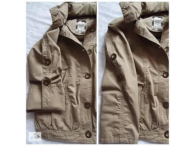 Плащ куртка курточка тренч на лето теплую осень -весна с капюшоном с рукавами которые подкатываются- объявление о продаже  в Тернополе