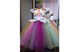 Платье единорог новое для девочек , нарядное