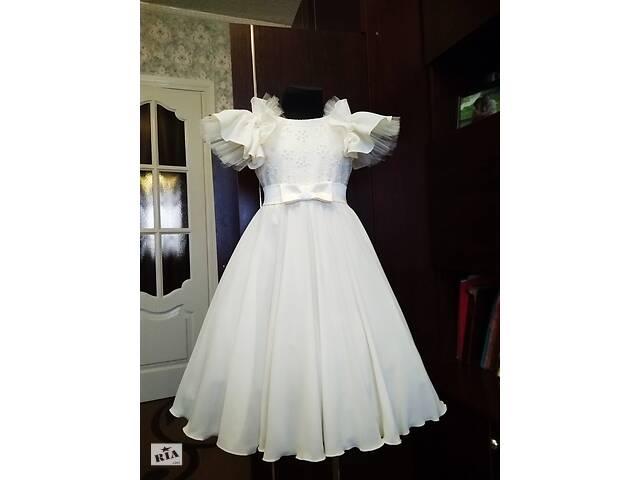 Платье цвет кремовый бальное нарядное на выпускной в садик 116р- объявление о продаже  в Белой Церкви
