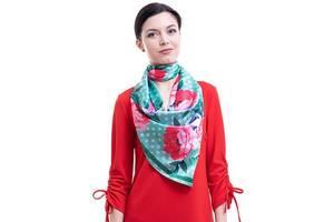 Платок большой AMO Платок женский шелковый 90*90 см AMO  STAMOp90903