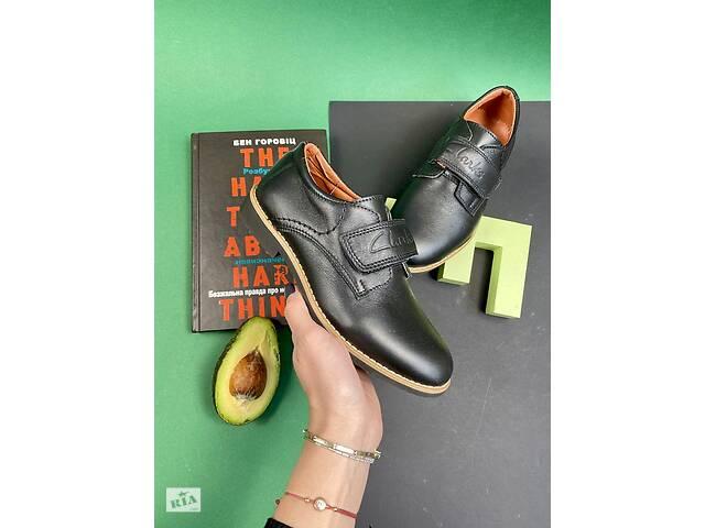 продам Подростковые туфли кожаные весна/осень черные Yuves М5L бу в Хмельницком