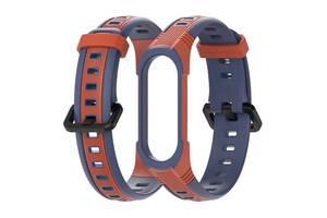 Ремешок для фитнес-браслета Xiaomi Mi Band 3 и 4 Sport 2, Blue with orange