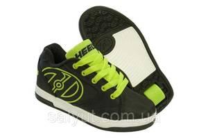 Роликовые кроссовки Heelys Propel 2.0 770977 (33, Черно-зеленый)