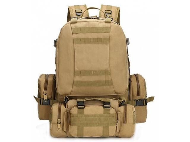 Рюкзак тактичний з подсумками B08 койот, 55 л- объявление о продаже  в Харкові