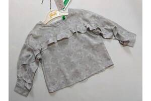 Серая блуза с оборками Benetton р. 2 года