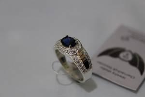 Серебряное кольцо с золотой накладкой ch0017