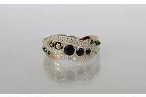 Серебряное кольцо с золотыми накладками, Украина Ch0020