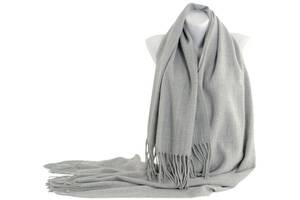 Шарф женский из кашемира 180х70 см Traum 2493-86 серый