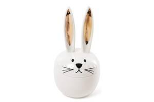 Шкатулка декоративная Bona Кролик с золотыми ушками 9.6х9.6х18.5 см фарфор (psg_BD-727-139)