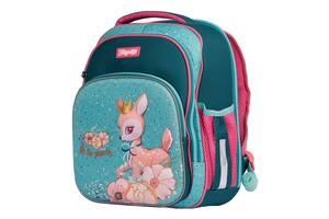 Школьный рюкзак ортопедический девочке для 1-4 класса 1 Вересня Forest princesses Бирюзовый (58578)