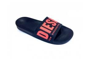 Шлепанцы, пляжные тапочки Diesel Iroquois black-red 44 SKL31-251907