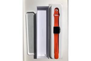 Смарт часы Apple Watch 38mm silver Aluminum Orange SPORT