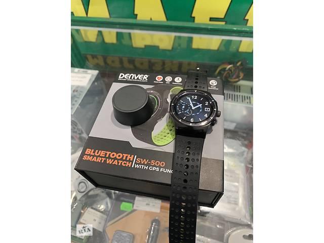 купить бу Смарт часы Smartwatch Denver SW-500 Альтиметр термометр пульсомер в Мариуполе