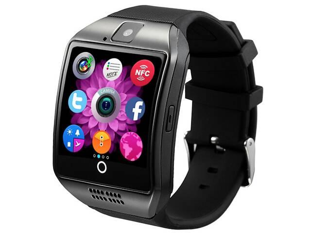 купить бу Смарт-часы UWatch Q18 1.5 дюймов функция приём звонков Bluetooth 3.0 сенсорный экран слот карта памяти 380мАч Black (... в Киеве