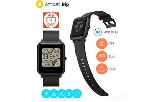 Смарт - часы Xiaomi Amazfit Bip Global с GPS, IP68. Умные часы  Black White A1608