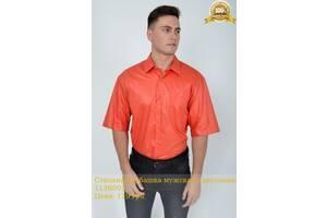 Стильная рубашка мужская однотонная 113R001