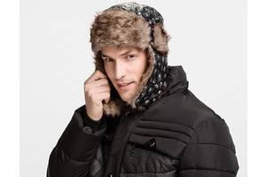 Стильная зимняя шапка ушанка Унисекс