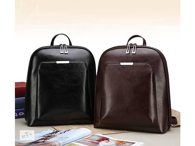 продам Стильный женский городской рюкзак сумка 2 в 1. Качественный рюкзачек сумочка черный коричневый бу в Днепре (Днепропетровск)
