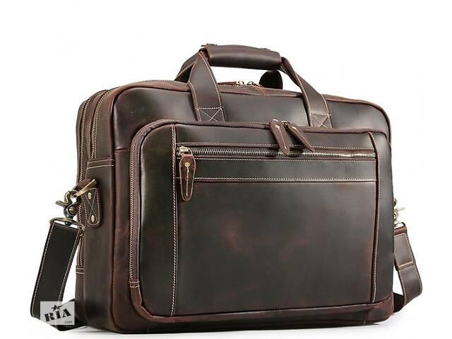 продам Сумка для документов и ноутбука кожаная коричневая Tiding Bag  TDNGBG7367R бу в Киеве