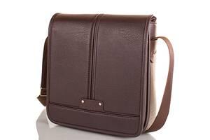 Сумка-почтальонка (мессенджер) Bonis Мужская сумка-почтальонка из качественного кожезаменителя BONIS SHIM8098-brown