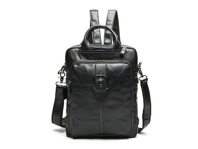 продам Сумка-рюкзак 2 в 1 мужская кожаная вертикальная с хлястиком Vintage  Черная, Черный Vntg14790 бу в Киеве