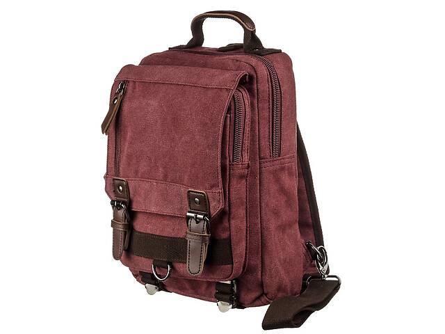 купить бу Сумка-рюкзак на одно плечо Vintage  Малиновая Vntg20140 в Киеве