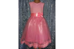 Праздничная детская платье «Розовая нежность», модель № 87