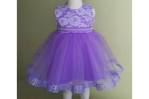 Праздничное платье для самых маленьких, лавандового цвета, модель № 106