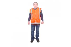Сигнальний жилет помаранчевий вид 2
