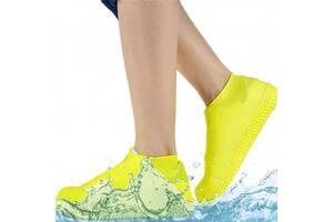 Силиконовые водонепроницаемые бахилы Чехлы на обувь WSS1 S 35-38р Yellow SKL25-223350