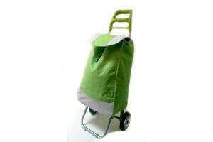 Тачка сумка с колесиками кравчучка металл 94см MH-2079 зеленая