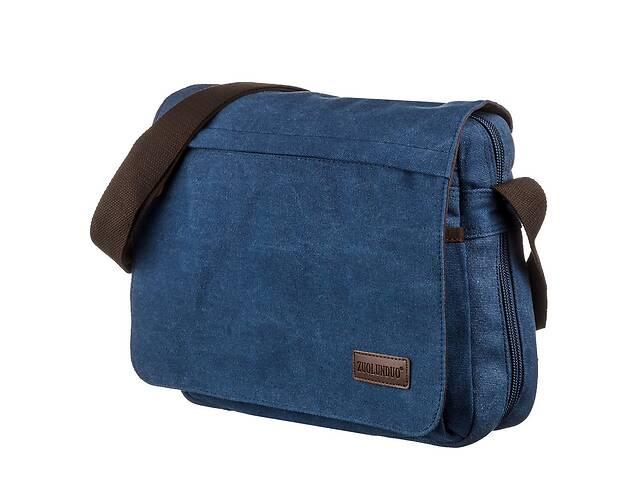 купить бу Текстильная сумка для ноутбука 13 дюймов через плечо Vintage  Синяя Vntg20189 в Киеве