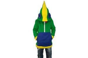 Толстовка детская EVA облегченная 152 см  Зеленый + синий + желтый