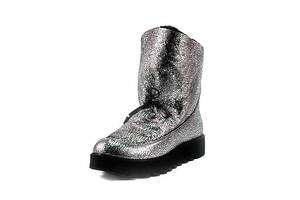 Угги женские MIDA 24667-594Ш серебряная замша (36)