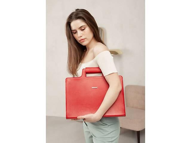 купить бу Женская кожаная сумка для ноутбука и документов красная BlnkntBN-BAG-36-red в Киеве