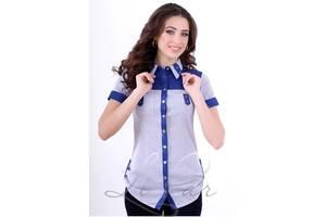 Женская рубашка клетка/полоска Lipar Разные цвета и размеры