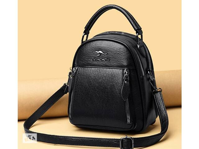 бу Женская сумка рюкзак трансформер эко кожа, маленький рюкзачок сумочка женская 2 в 1 Кенгуру в Днепре (Днепропетровск)